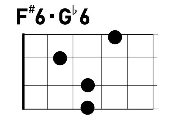 ウクレレコードF#6/G♭6