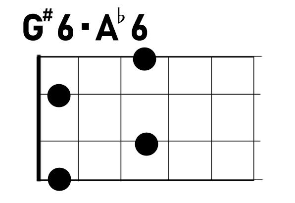 ウクレレコードG#6/A♭6