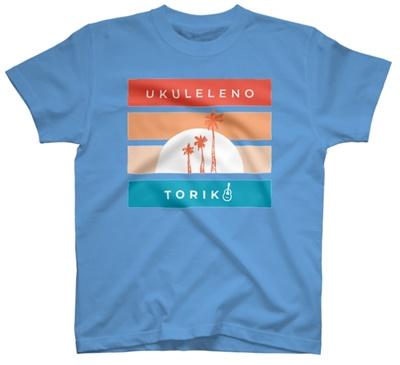 ウクトリアロハなTシャツ(サックス)